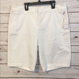 White Nautica Shorts NWT